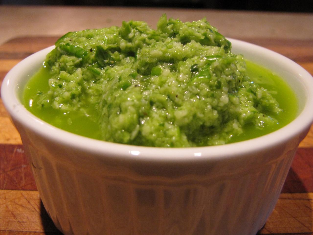 Garlic Scape Pesto - No Nuts! - Kimversations