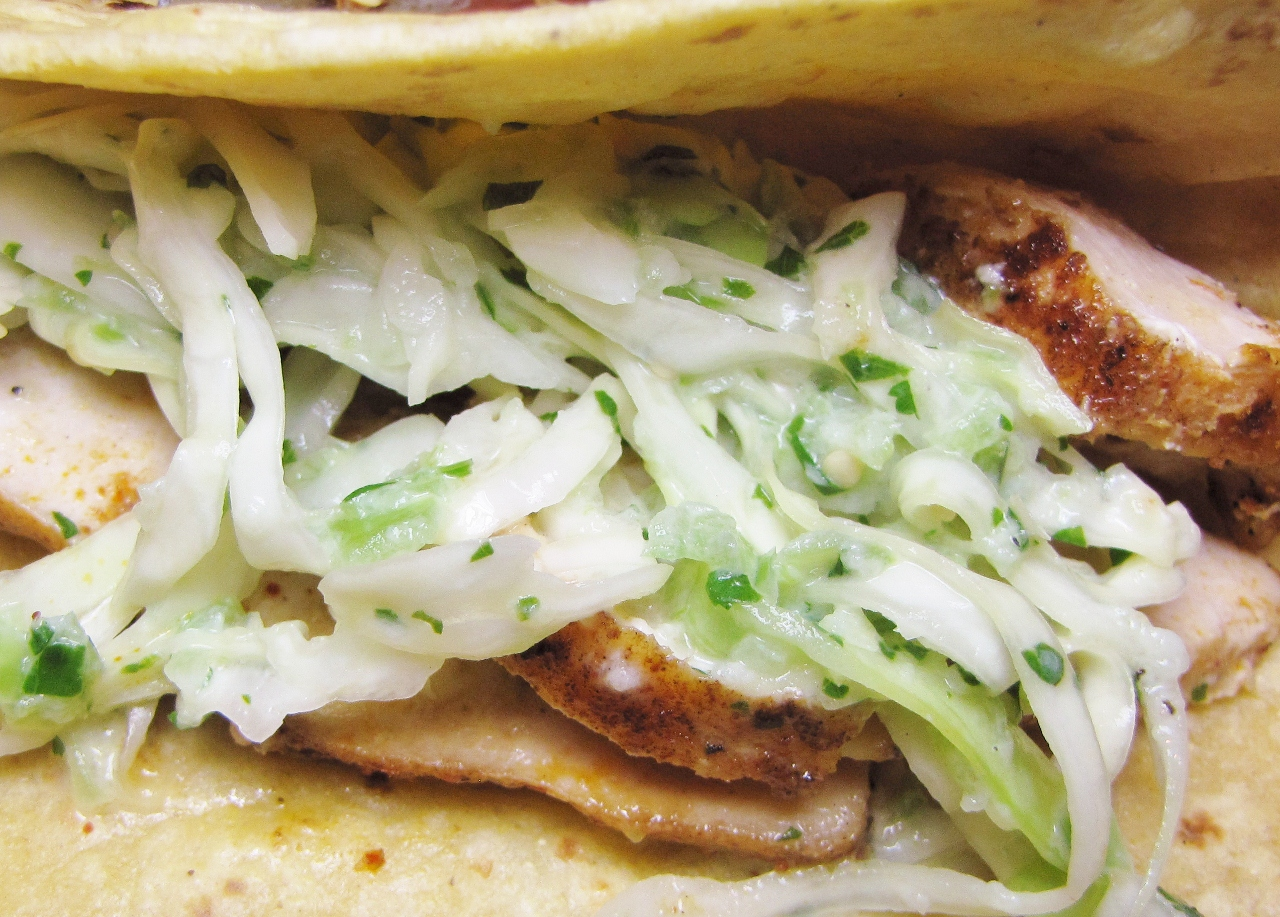 Fish tacos with cabbage slaw kimversations for Cabbage slaw for fish tacos