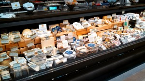 This picture shows only part of the cheese selections - lots of local (NY and VT) cheeses are featured.