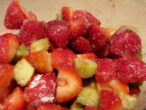 Strawberries & Rhubarb - tossed