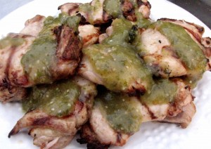 Lime Cumin Chicken with salsa verde