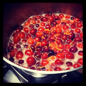 Cranberry Sauce - in the pot