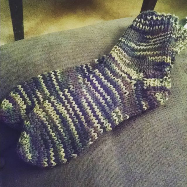 One pair of camo slipper socks done One more tohellip