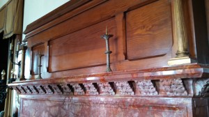 Singer Castle - detail mantle