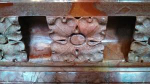 Singer Castle - detail marble fireplace