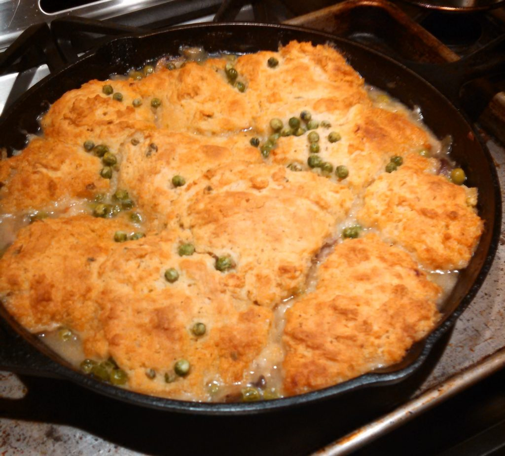 Turkey Pot Pie with Buttermilk Drop Biscuits