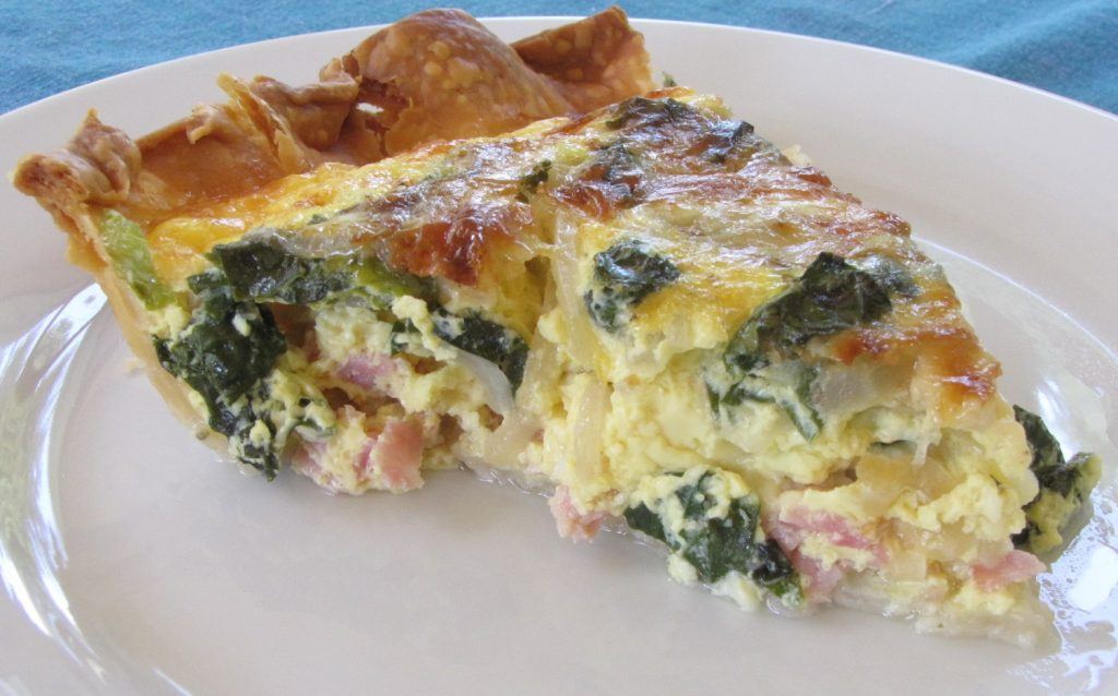 Ham-Egg-Quiche Plated