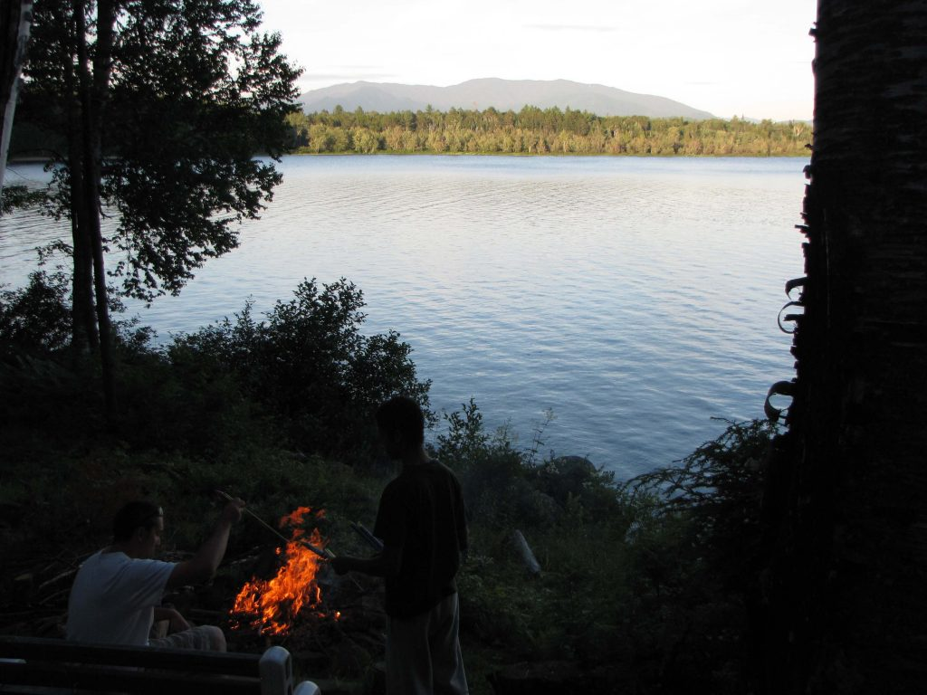 long lake ny adirodacks camp fire