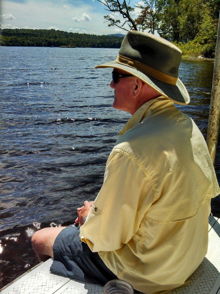 Long Lake - sittin on the dock