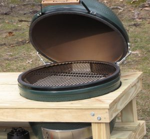Big Green Egg in a nest