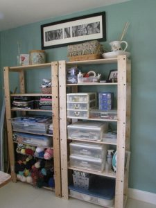 ALL of my craft stuff is on these two shelves. You have no idea how nice it is to be able to access everything quickly and easily.