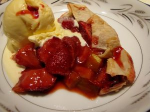 Strawberry Rhubarb with ice cream