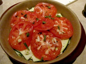 Tomato Zucchini Bake - layer vegetables (1024x768)