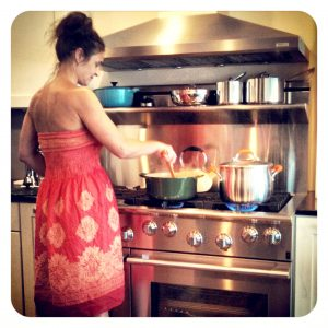 Beautiful Jen and her beautiful stove.