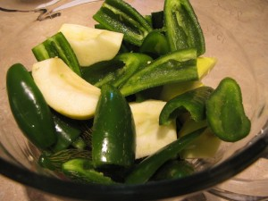 Jalapeno Peppers and Apples for Jelly