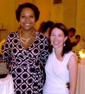 Me with my friend Michele who designed the invitations for the event.