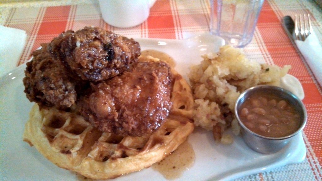 Chicken and Waffles at Le Gros Jambon