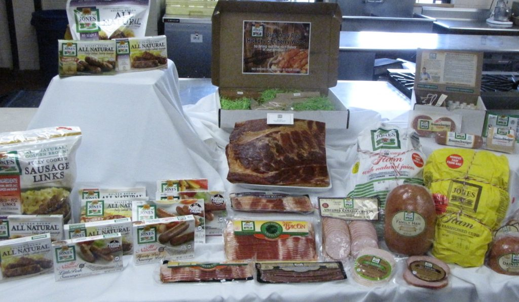 A selection of Jones Dairy Farm products