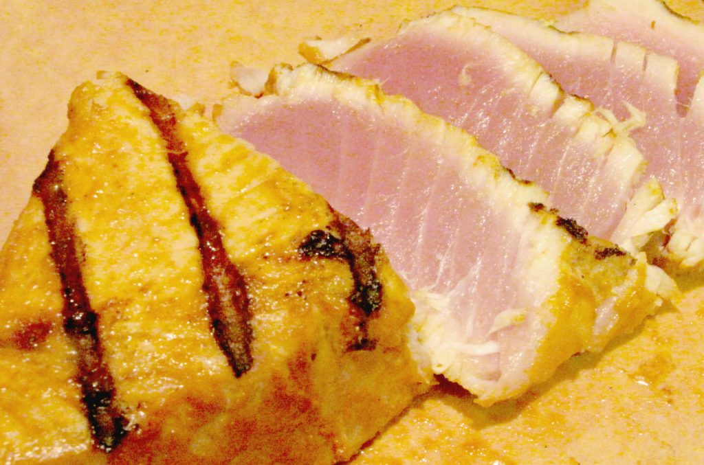 Grilled Tuna steaks sliced