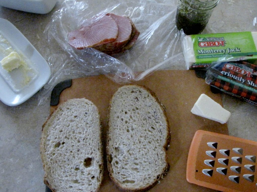grilled ham and cheese ingredients