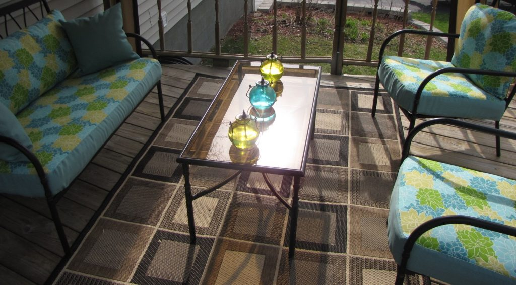 DIY deck furniture upholstery project