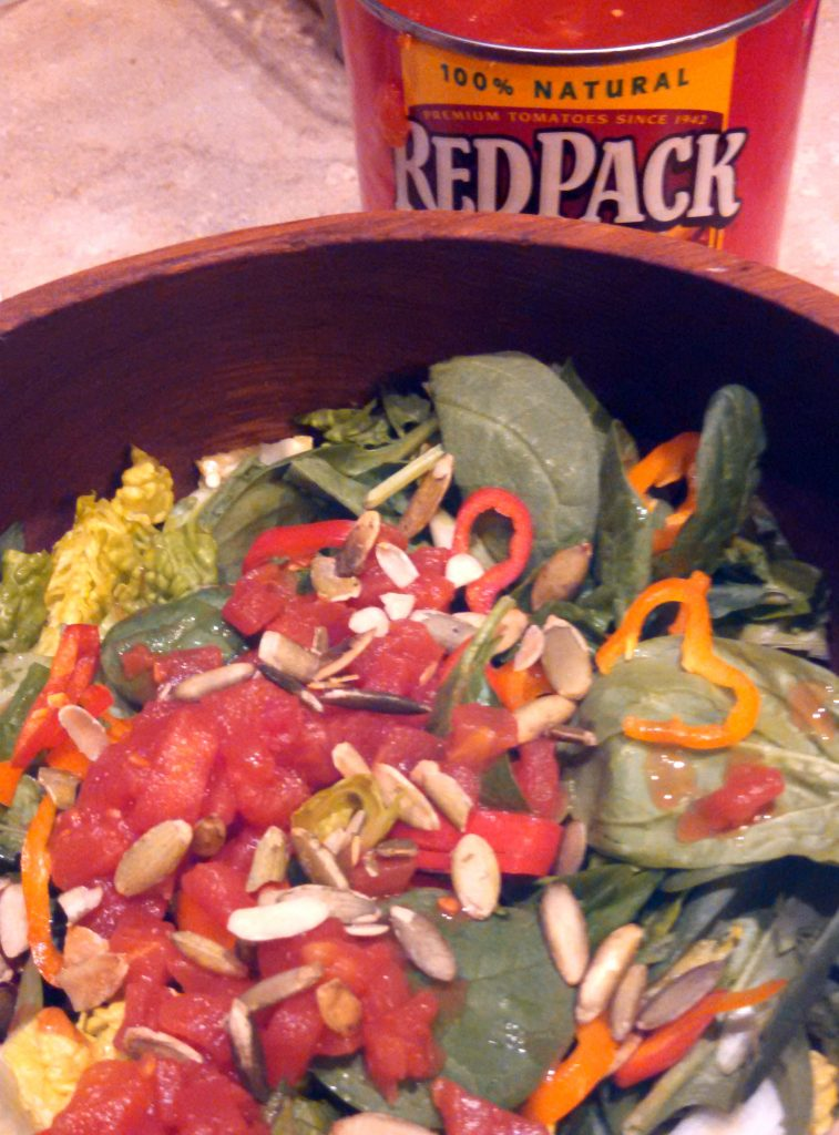 salad with Redpack Petite Diced Tomatoes