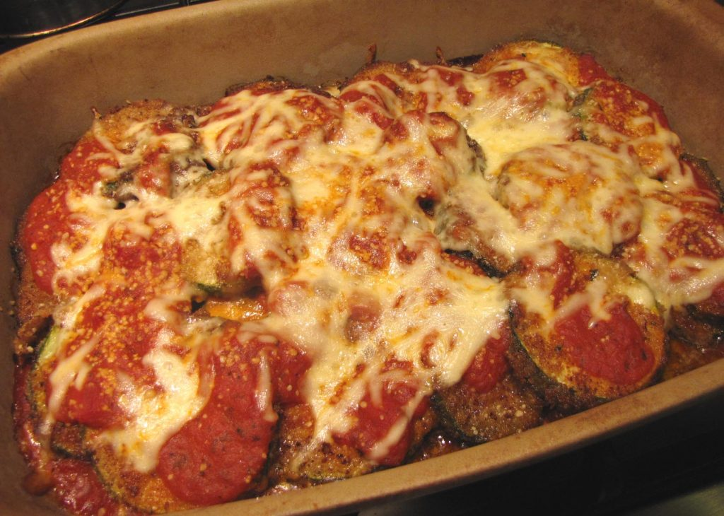 Baked zucchini parm