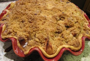Apple Pear Crumble Pie