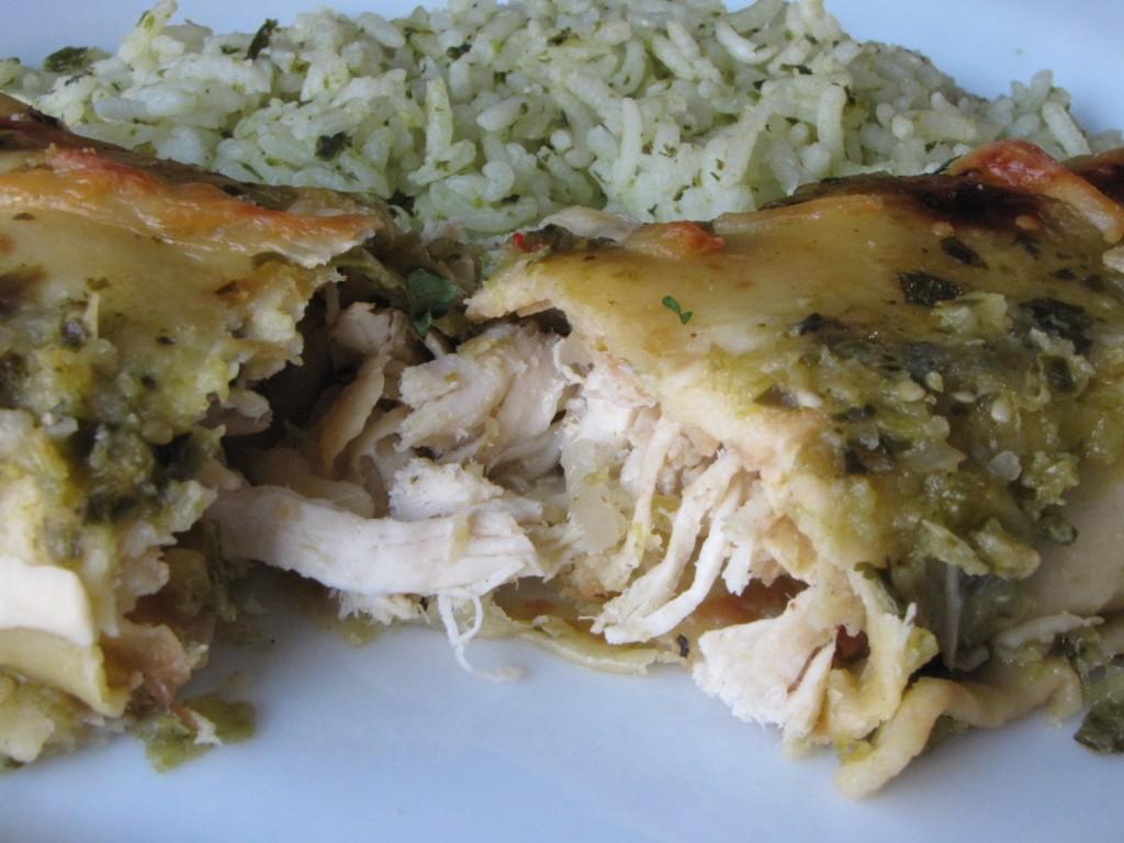 Enchiladas - on a plate
