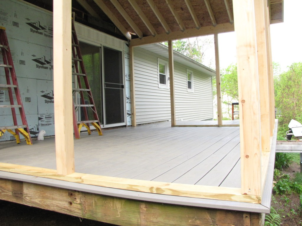 We decided that we really don't want another room but a comfortable outdoor space that we'll use in the summer and on those random warm weather days early spring and late fall.
