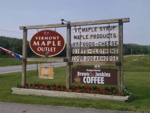 Vermont Maple Outlet - sign
