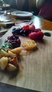 Roasted Garlic, Chutney, Berries and Honeycomb