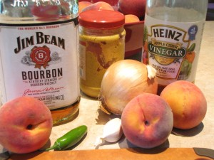 Sweet Peach and Bourbon - ingredients