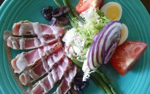 Yellowfin Tuna Nicoise Salad at The Dock in Naples Florida