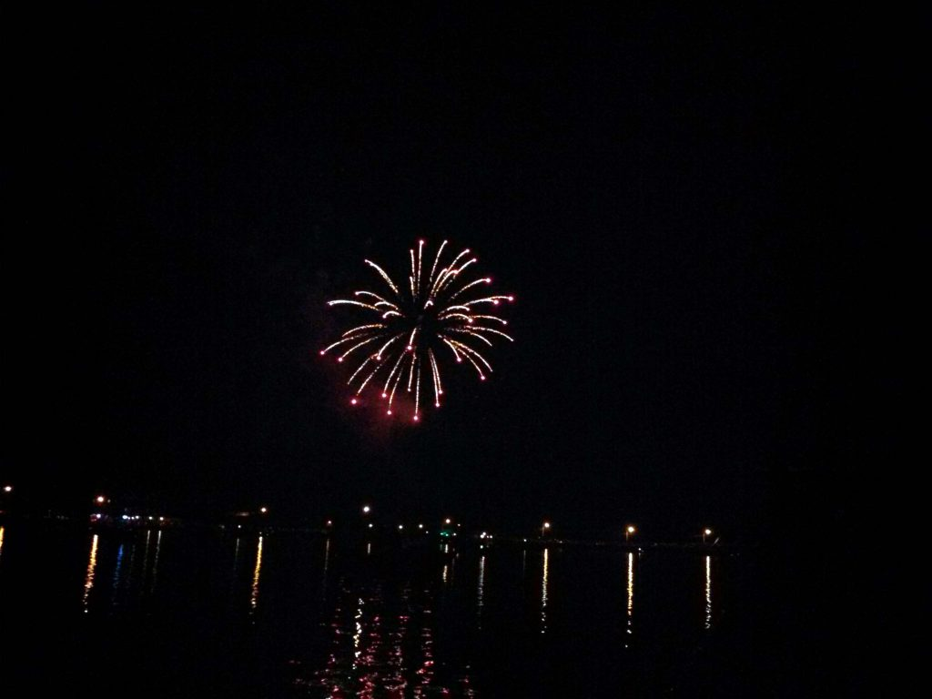July 4th fireworks in Long Lake NY