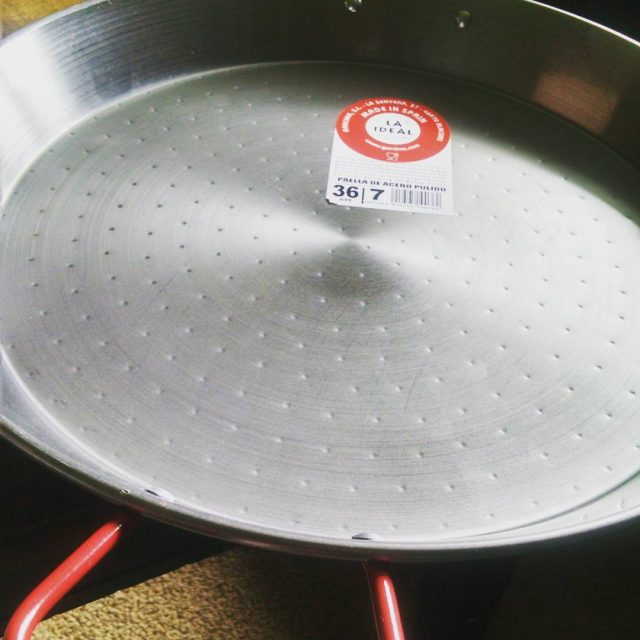 Birthday present from Mark  a paella pan! Now Ihellip