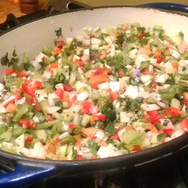 Been chopping like a champ! Green Tomato Salsa is inhellip
