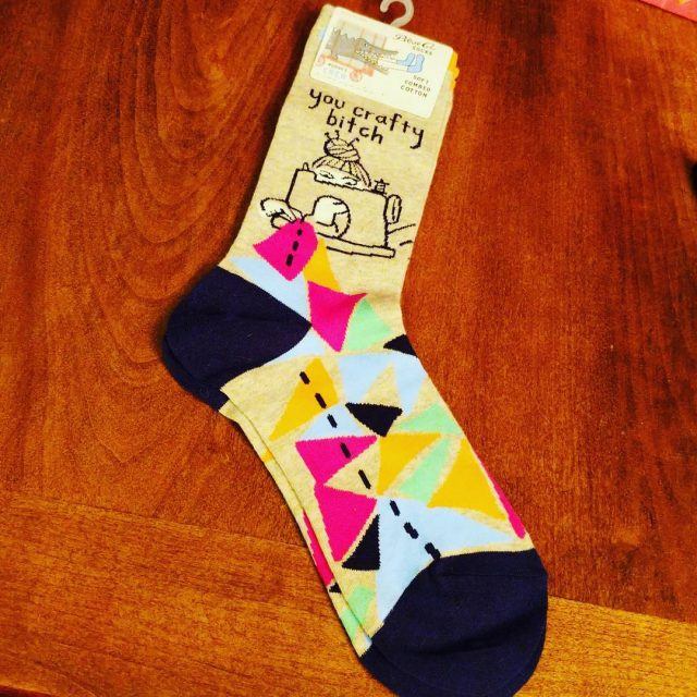 My new blueqsocks! Thanks fahekell for recognizing a craftybitch whenhellip