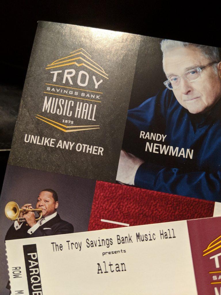 Troy Music Hall Playbill Altan